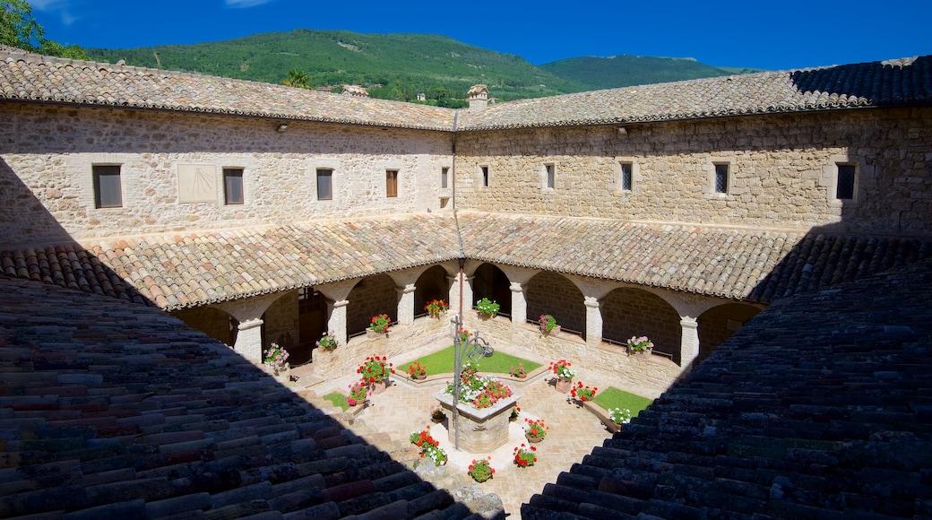San Damiano montrant fleurs et patrimoine architectural