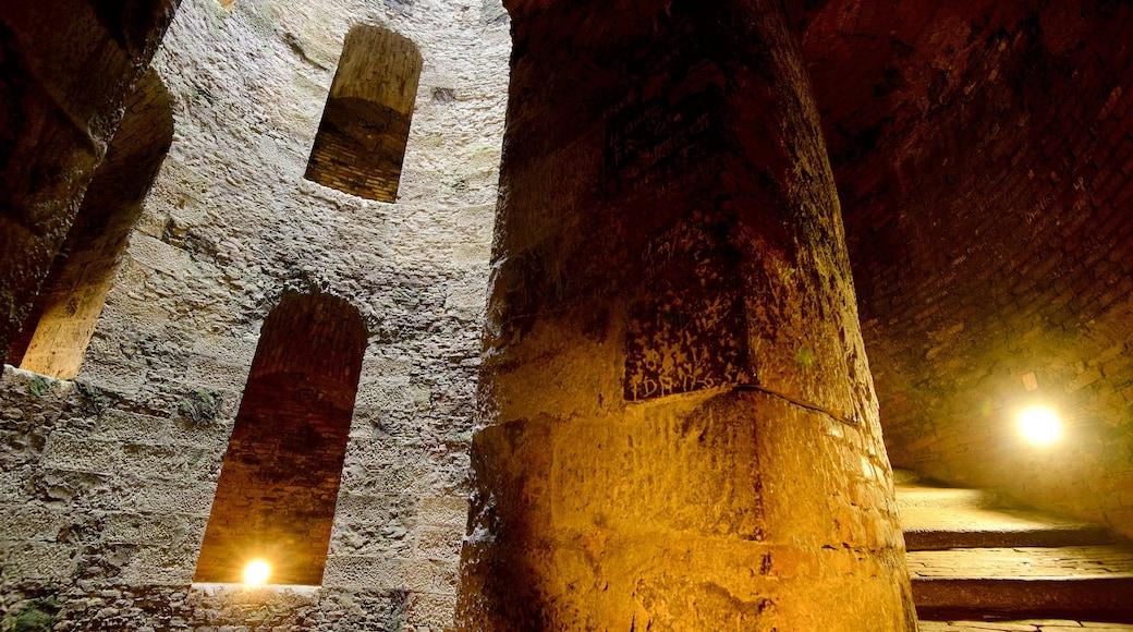 Pozo de San Patricio ofreciendo vistas interiores y patrimonio de arquitectura
