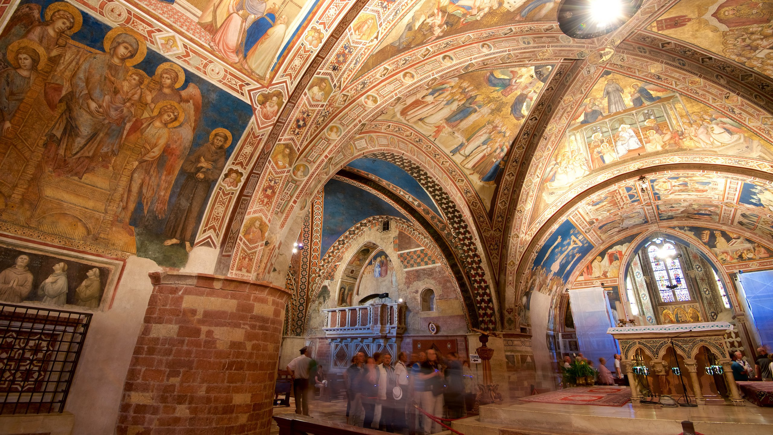 Päpstliche Basilika des heiligen Franziskus von Assissi, Assisi, Umbrien, Italien