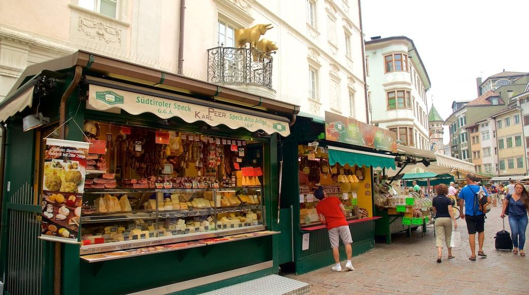 Bolzano montrant ville, nourriture et marchés