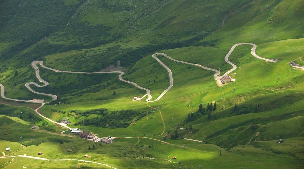 Trentino mit einem Berge und Farmland