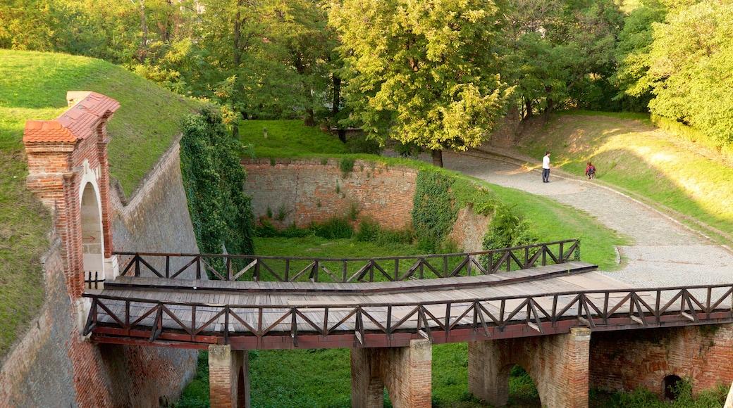 Petrovaradin Fortress which includes a bridge