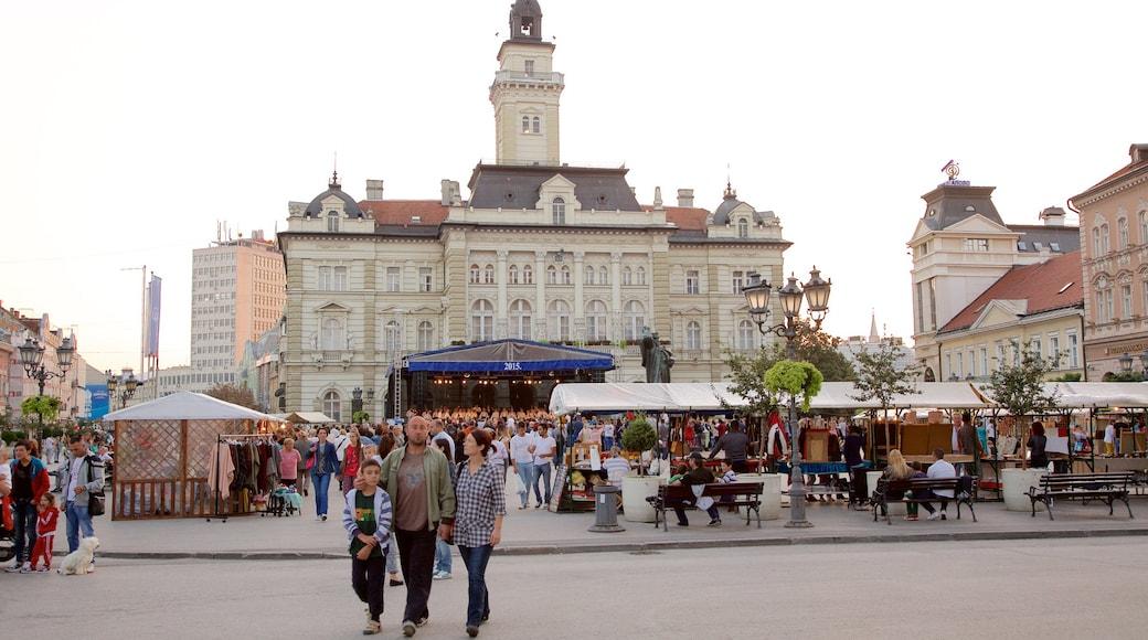 Novi Sad which includes a square or plaza, a city and street scenes