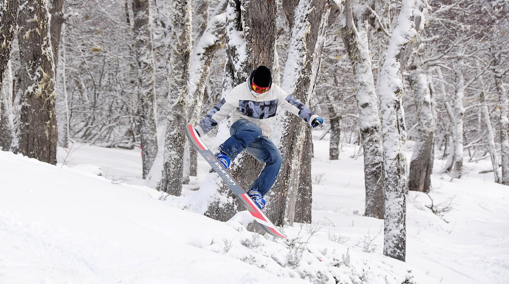 Cerro Bayo showing snow and snow boarding