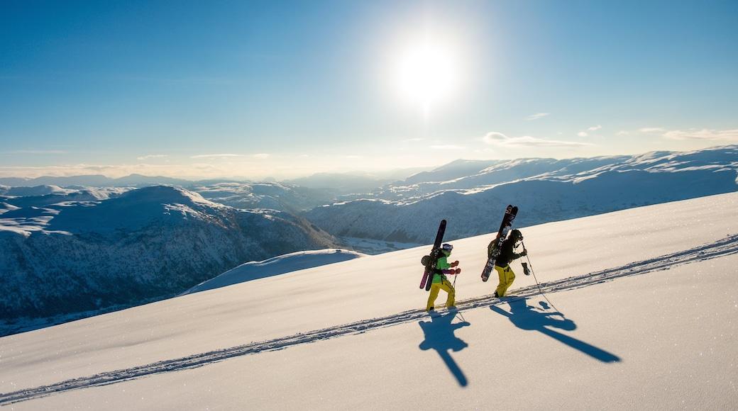 Myrkdalen caratteristiche di vista del paesaggio, neve e montagna