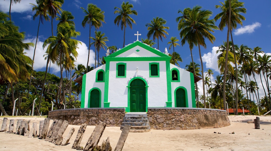Tamandare which includes tropical scenes, religious aspects and general coastal views