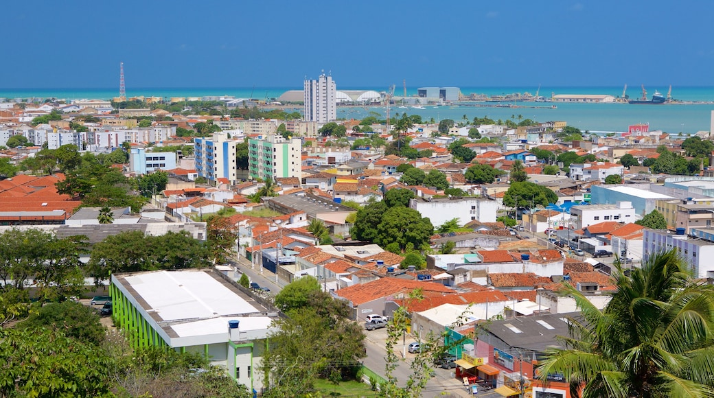 Maceió ofreciendo vista general a la costa y una ciudad costera