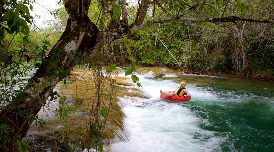 Parque Ecológico Rio Formoso caracterizando floresta tropical, rafting e córrego