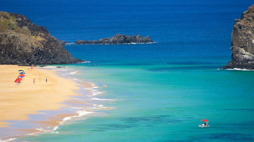 Fernando de Noronha das einen Bucht oder Hafen, allgemeine Küstenansicht und Strand