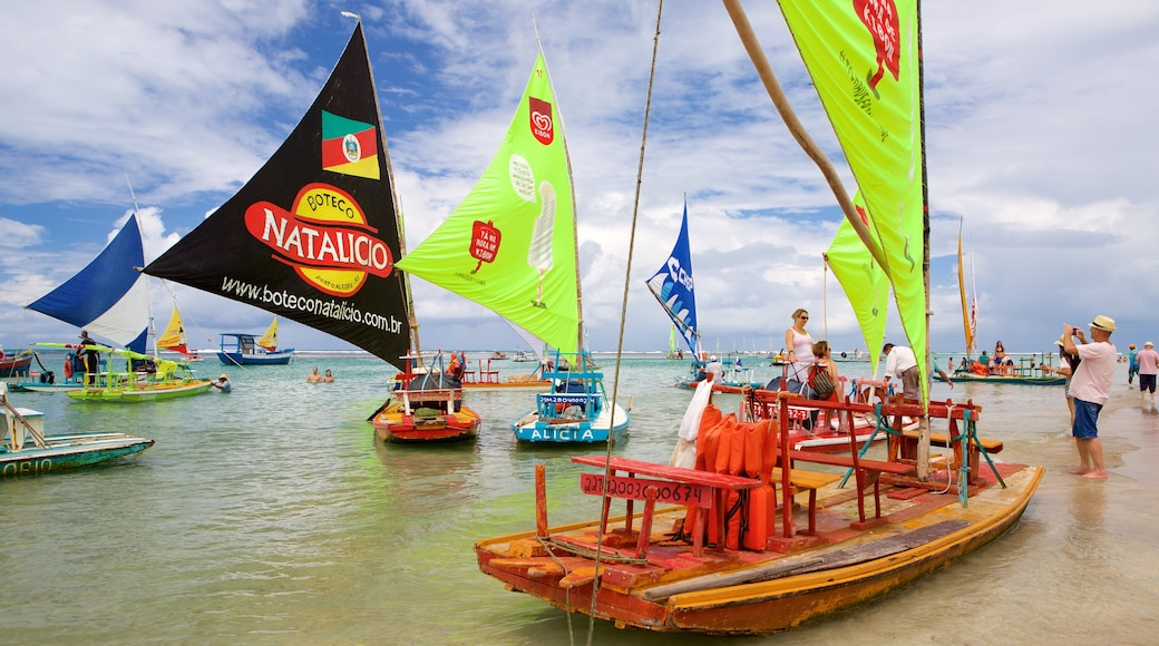 Porto de Galinhas showing rafting, general coastal views and sailing