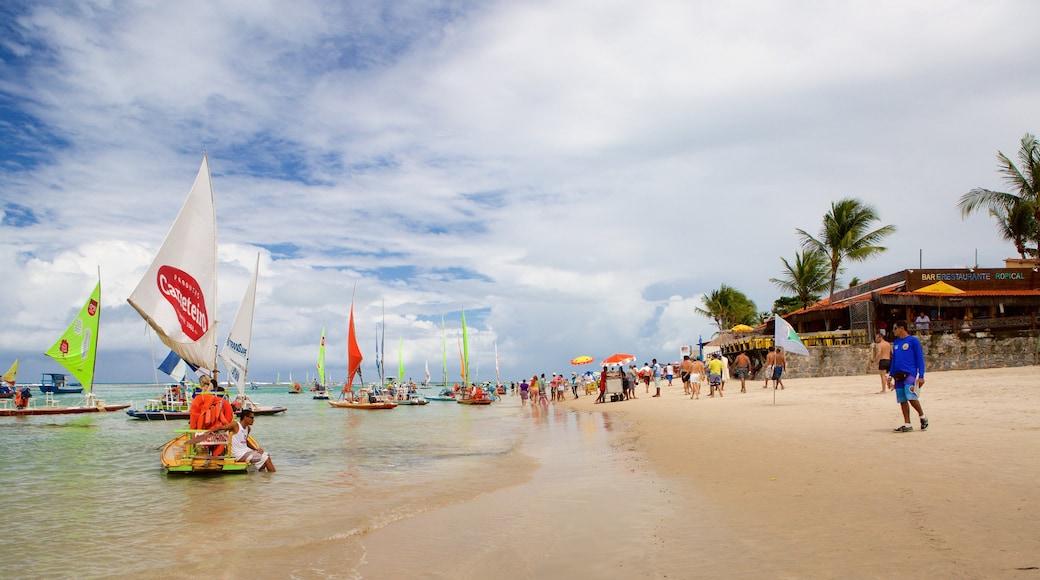 Porto de Galinhas featuring sailing, a sandy beach and rafting