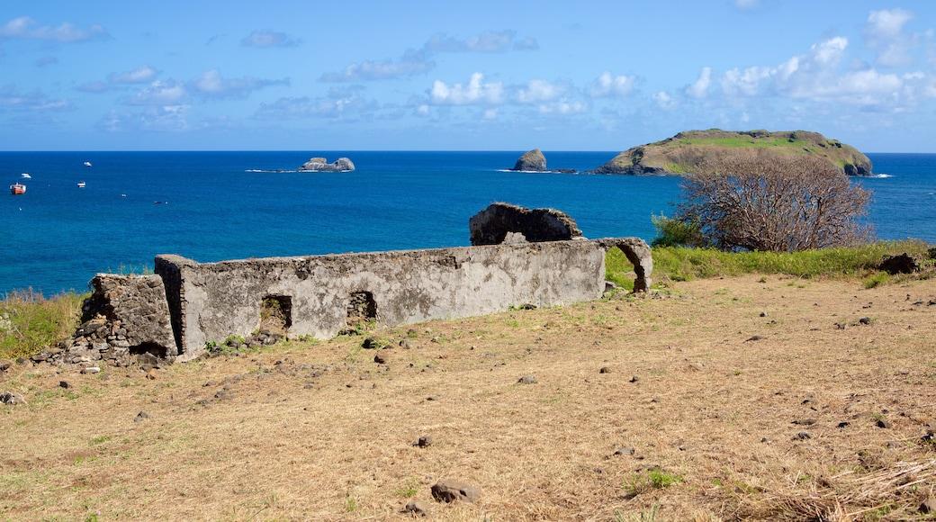 Forte de Santo António mit einem allgemeine Küstenansicht, schroffe Küste und Inselbilder