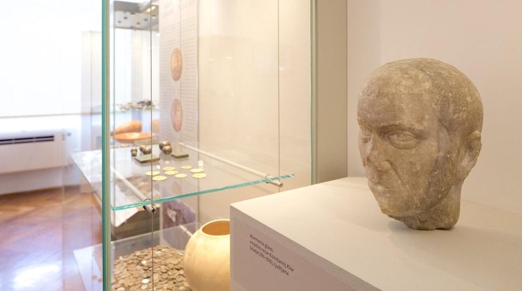 Museu Nacional da Eslovênia caracterizando vistas internas e elementos de patrimônio
