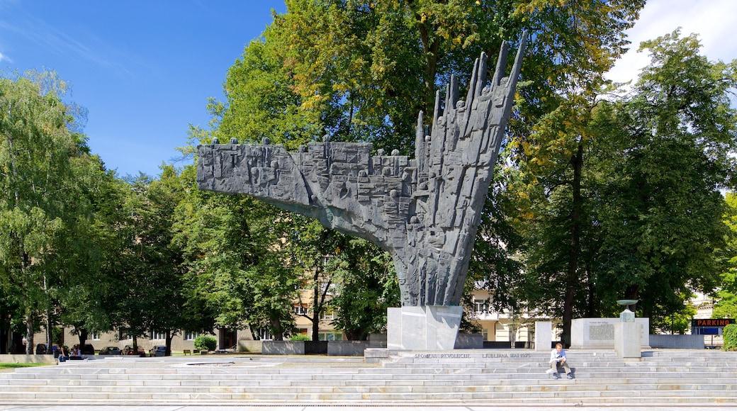 Ljubljana das einen Monument und Park