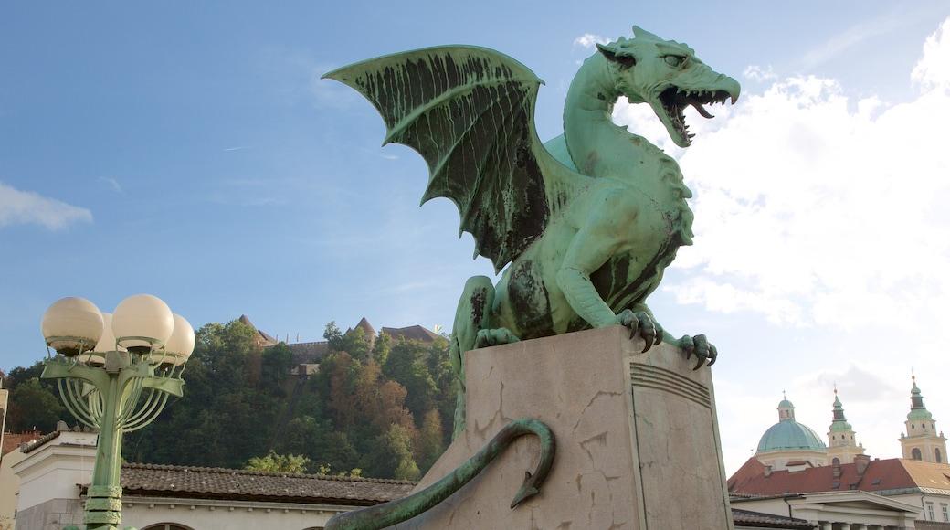 Lohikäärmesilta featuring monumentti