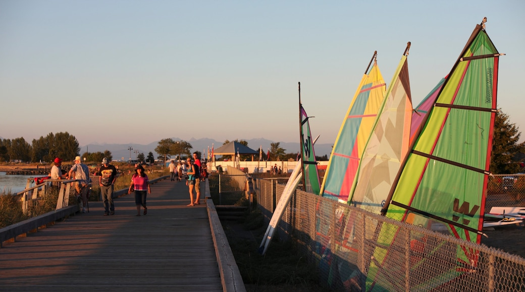 Parksville featuring a sunset and sailing