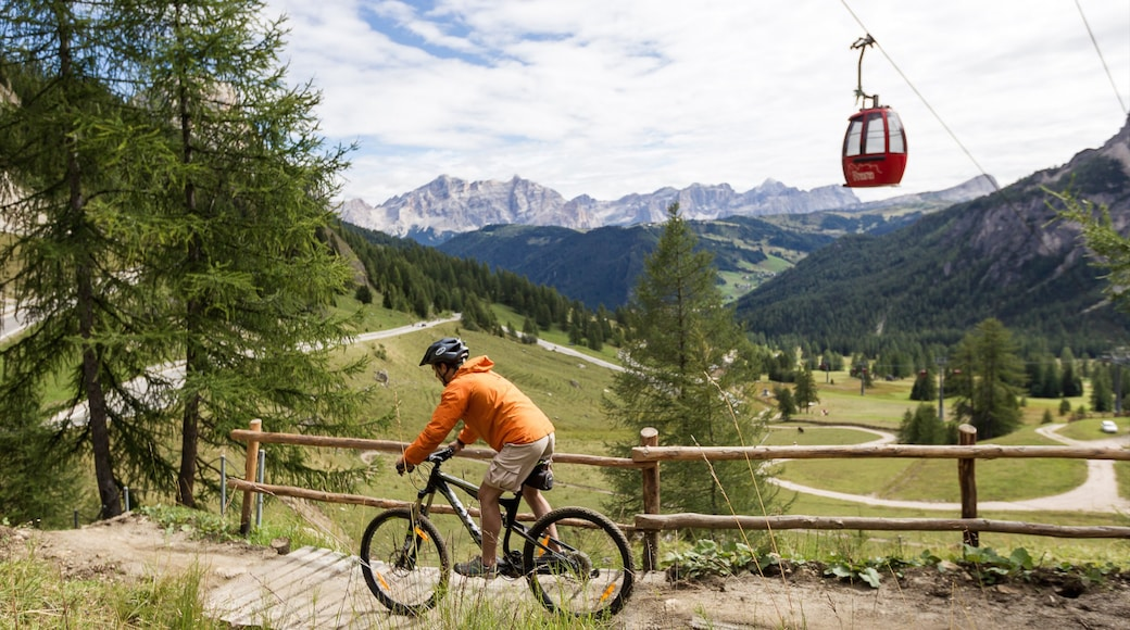 Corvara in Badia which includes tranquil scenes, a gondola and cycling