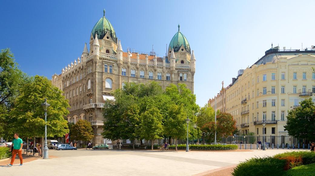 Budapest joka esittää kirkko tai katedraali, vanha arkkitehtuuri ja tori