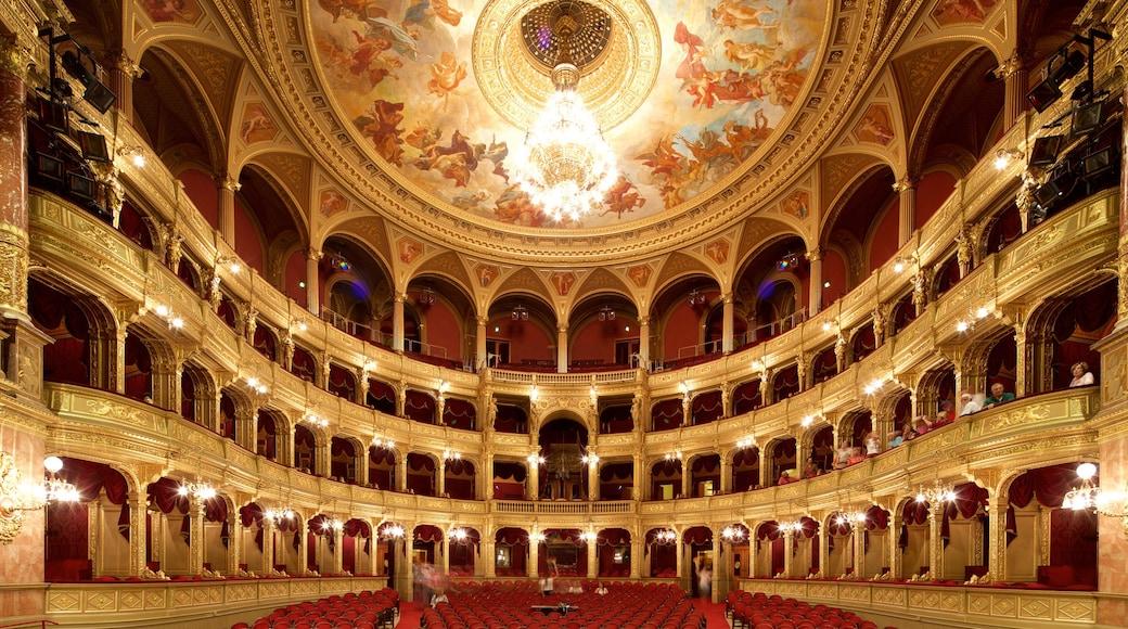 Budapest bevat interieur, historische architectuur en theaters