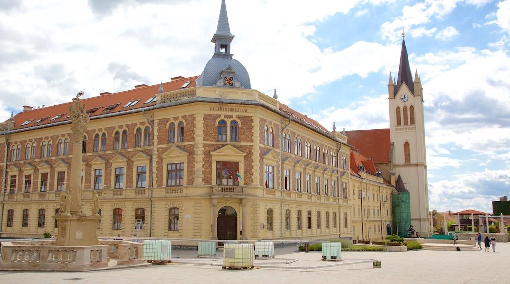 Keszthely bevat een monument, historische architectuur en een overheidsgebouw