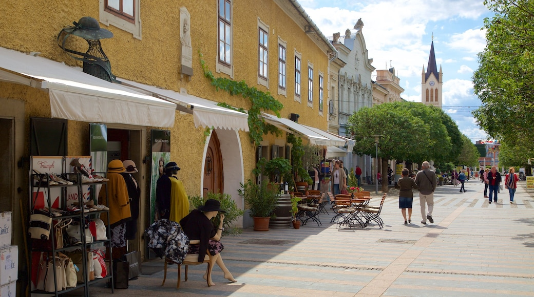 Keszthely featuring markets and street scenes