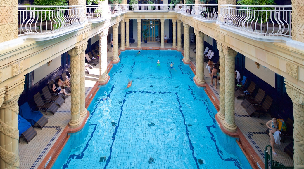Gellert Thermal Baths and Swimming Pool showing a pool, interior views and a day spa