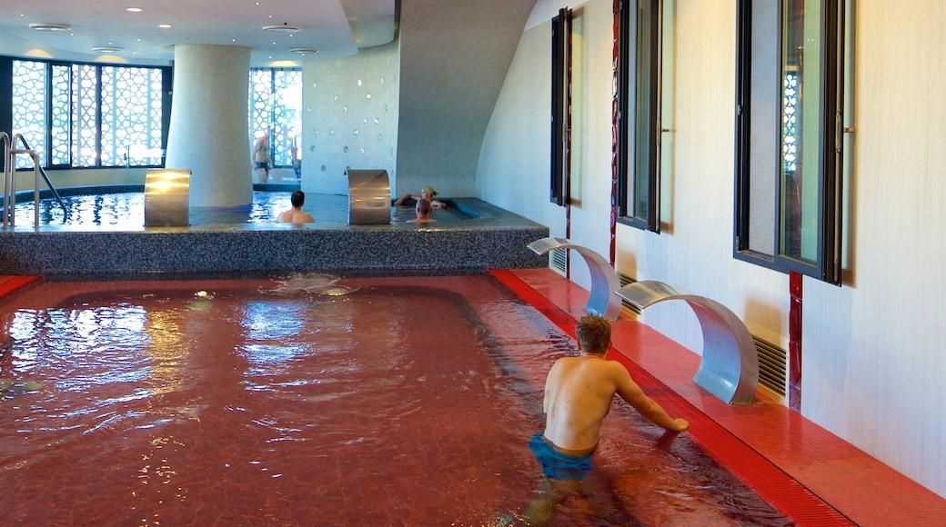 Rudas Baths showing interior views, a day spa and a pool