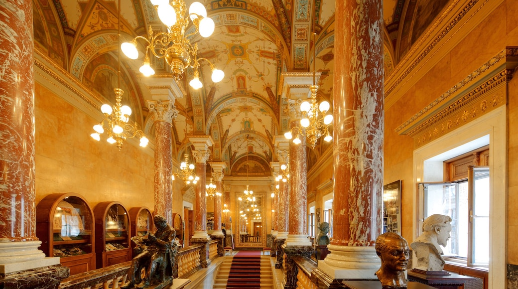 Hungarian State Opera House which includes interior views, heritage architecture and theatre scenes