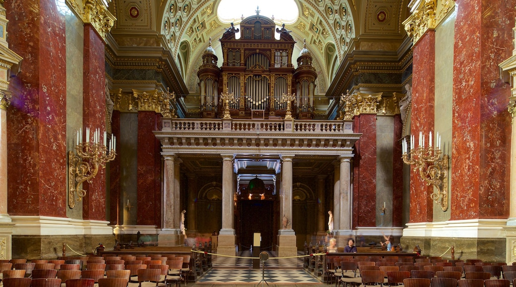 St. Stephen\'s Basilica showing a church or cathedral, interior views and religious aspects