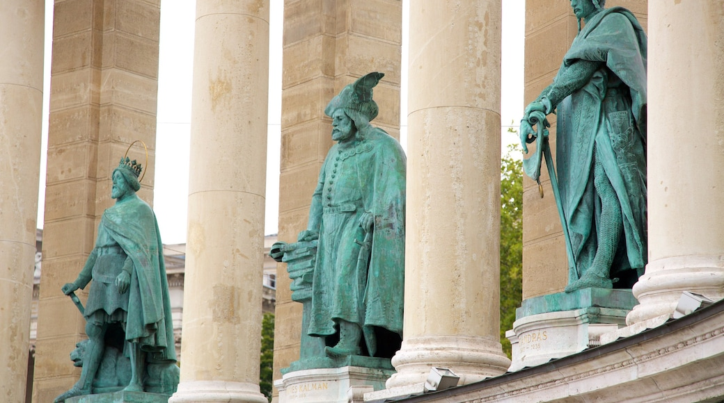 Heroes\' Square which includes a statue or sculpture