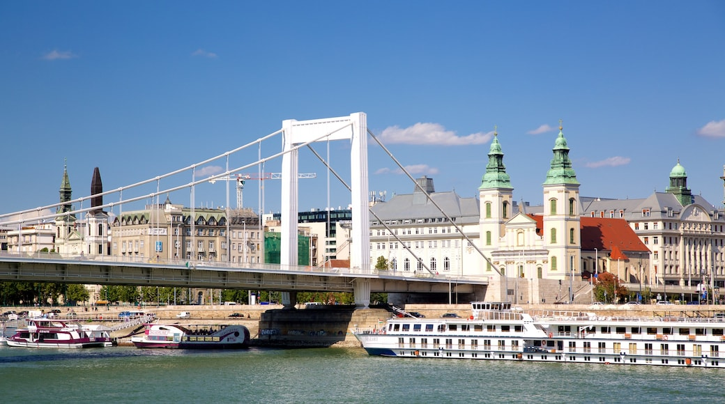 Elisabetin silta featuring joki tai puro, lautta ja riippusilta tai puutie