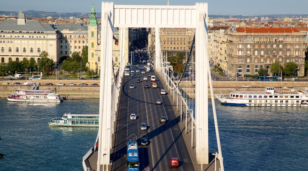 Elisabetin silta featuring kaupunki, riippusilta tai puutie ja katunäkymät