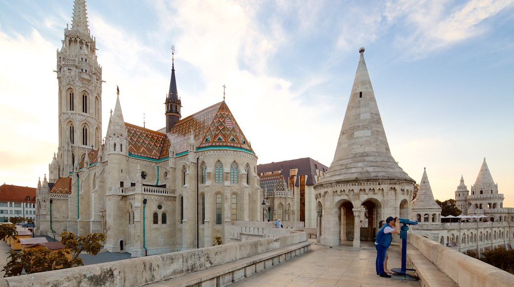 Fisherman\'s Bastion showing heritage architecture, views and a castle