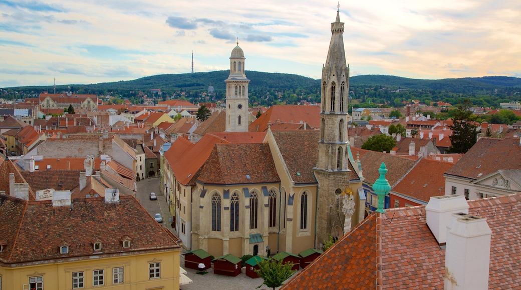 Kecsketemplom mostrando uma igreja ou catedral, uma cidade e arquitetura de patrimônio