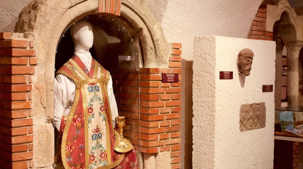 Tihany Abbey inclusief religieuze aspecten, een kerk of kathedraal en interieur