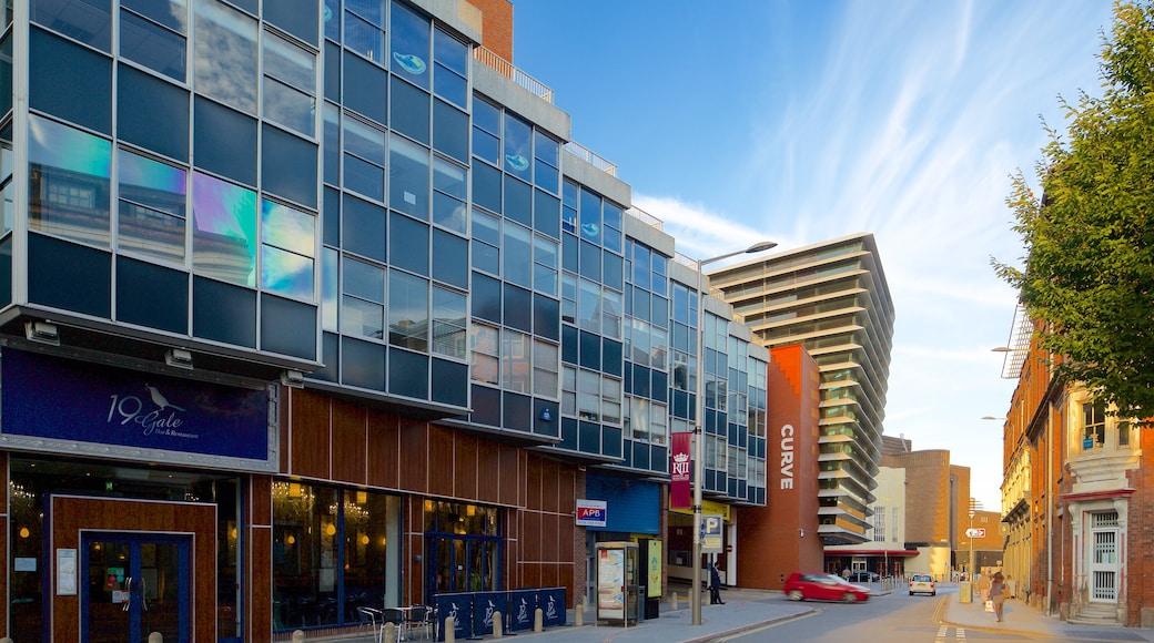 Curve Theatre which includes street scenes and theater scenes