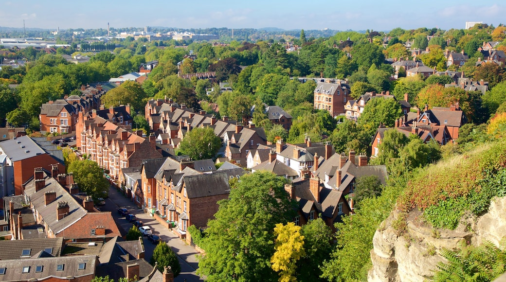 Nottingham which includes a small town or village