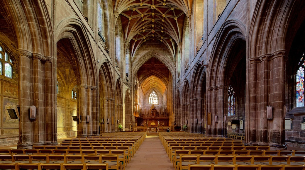 Chester Cathedral featuring heritage architecture, religious aspects and a church or cathedral