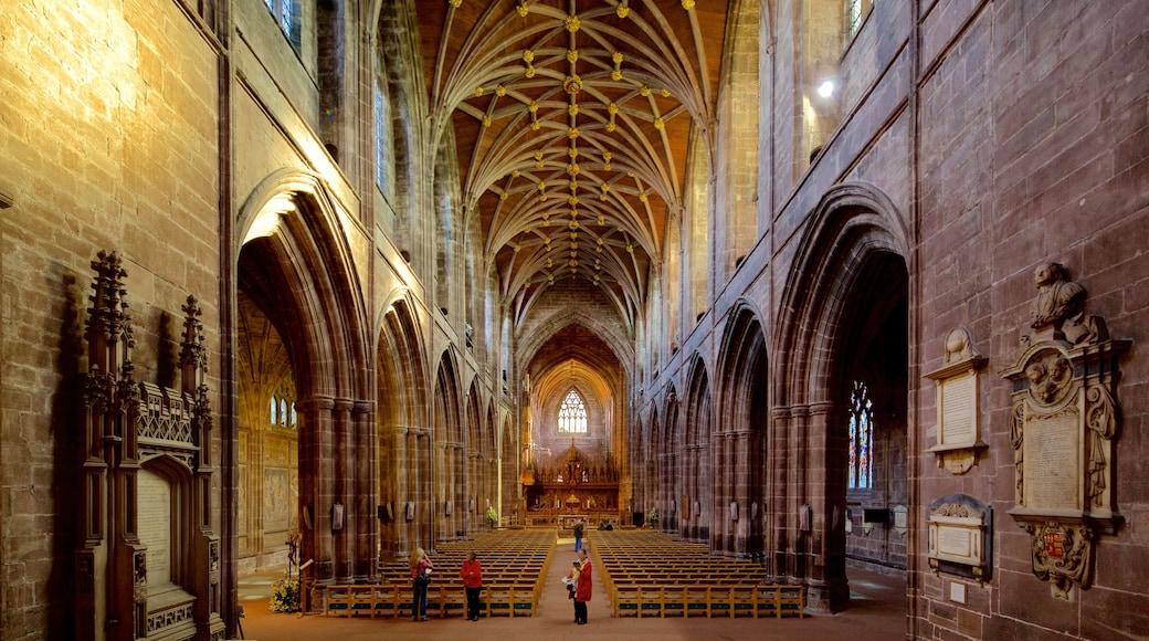 Chester Cathedral mit einem historische Architektur, religiöse Aspekte und Kirche oder Kathedrale