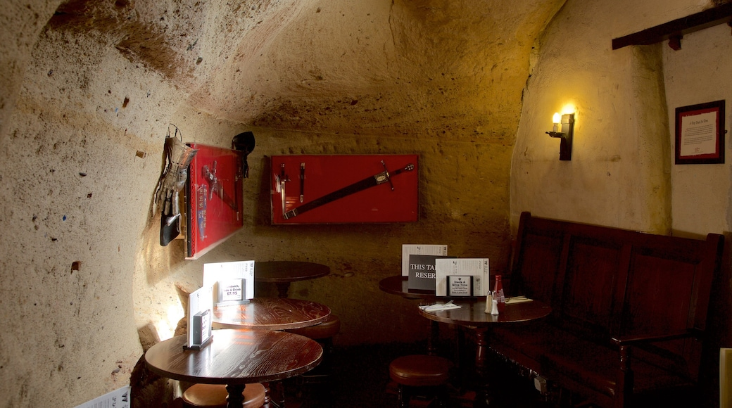 Ye Olde Trip to Jerusalem featuring heritage elements, a bar and interior views