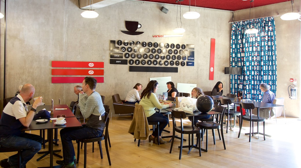 Nottingham Contemporary which includes interior views and café scenes as well as a small group of people