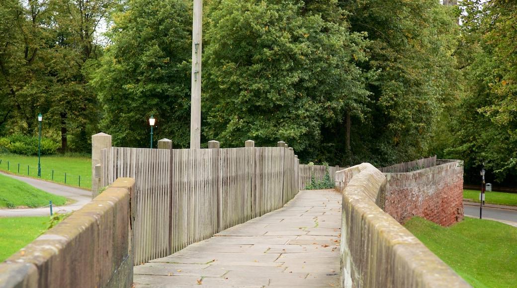 Chester City Walls das einen Geschichtliches