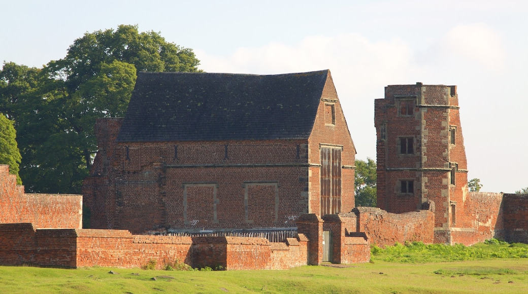 Leicester showing a castle, a ruin and heritage elements