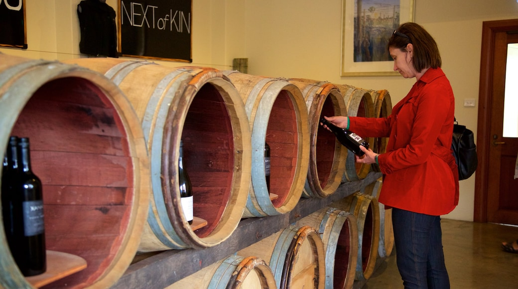 Xanadu Winery which includes interior views and signage as well as an individual female