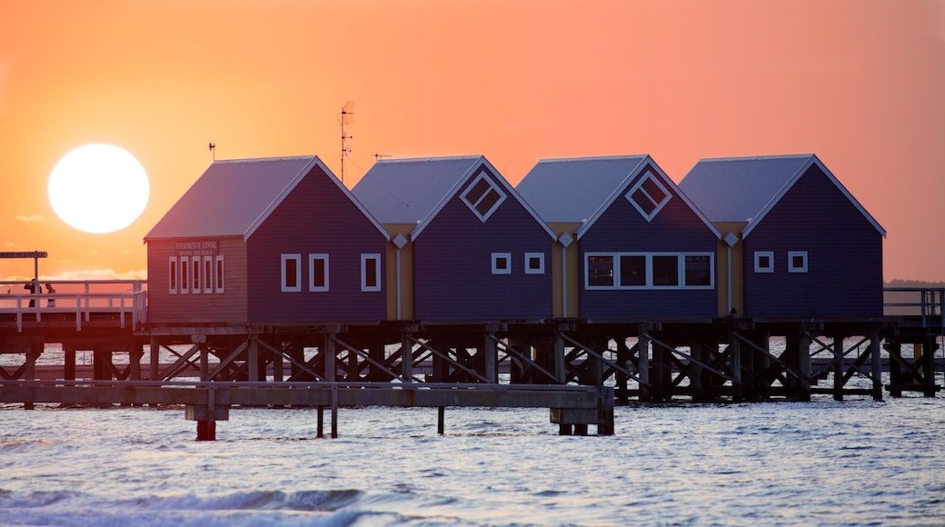 Busselton which includes a sunset