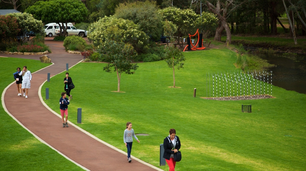 Vasse Felix Winery which includes a park as well as a small group of people