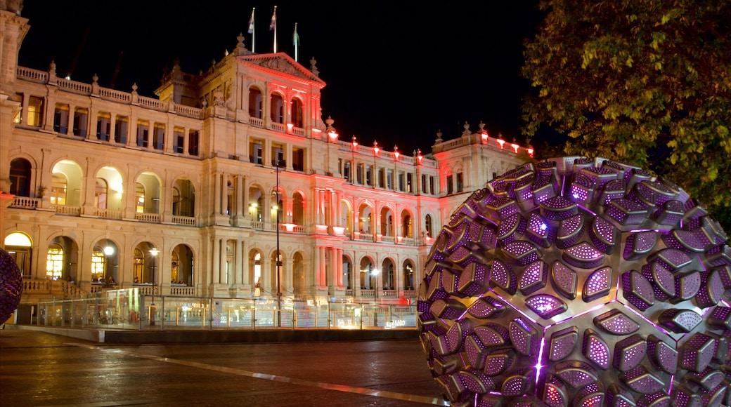 Treasury Casino which includes night scenes