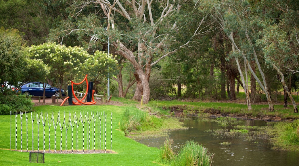 Vasse Felix Winery which includes a river or creek