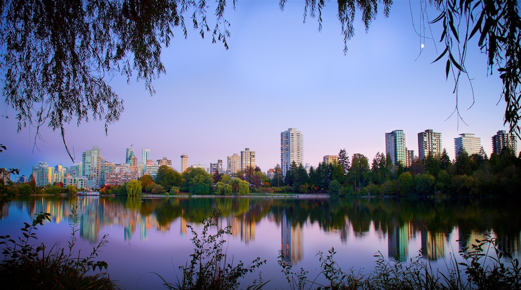 Stanley Park featuring a city and a river or creek