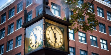 Gastown showing heritage elements and a city